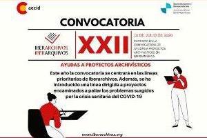 XXII Convocatoria de ayudas a proyectos archivísticos